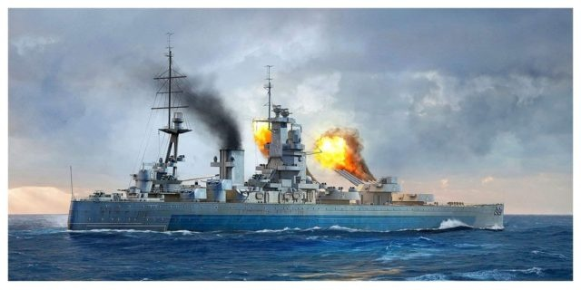 1/700 イギリス海軍 戦艦 HMS ネルソン 1944