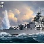 1/700 ドイツ海軍 戦艦 ビスマルク 色分け済みプラモデル